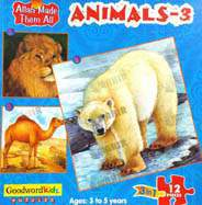 Animals 3 Box of Three Puzzles