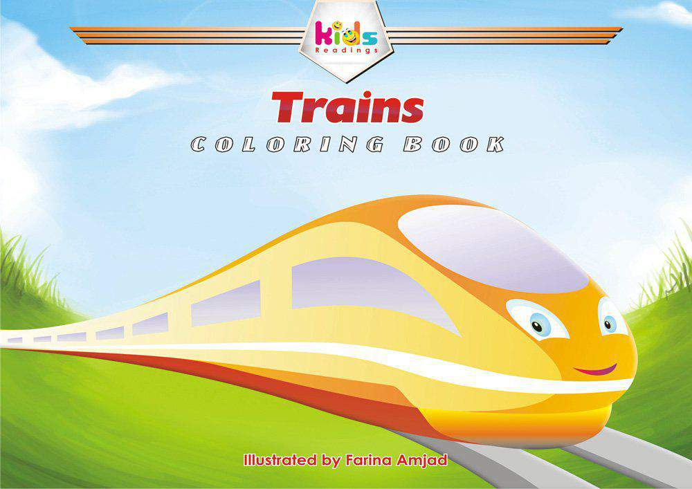 TRAINS COLORING BOOK