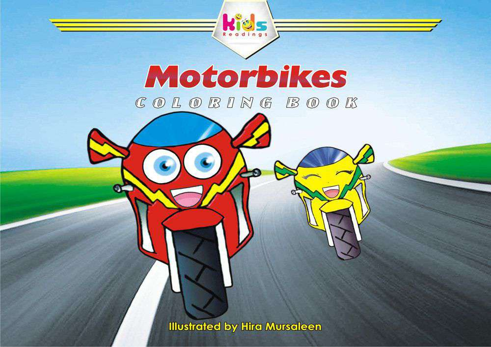 MOTORBIKES COLORING BOOK