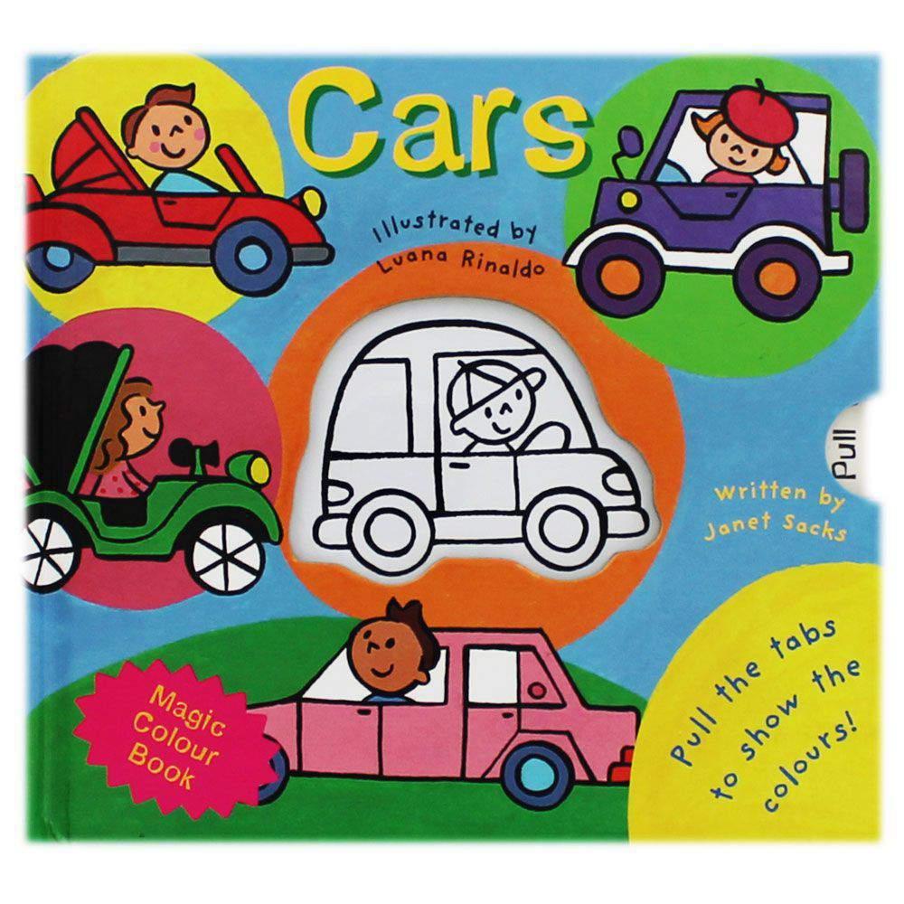 Cars  Magic Colour Book