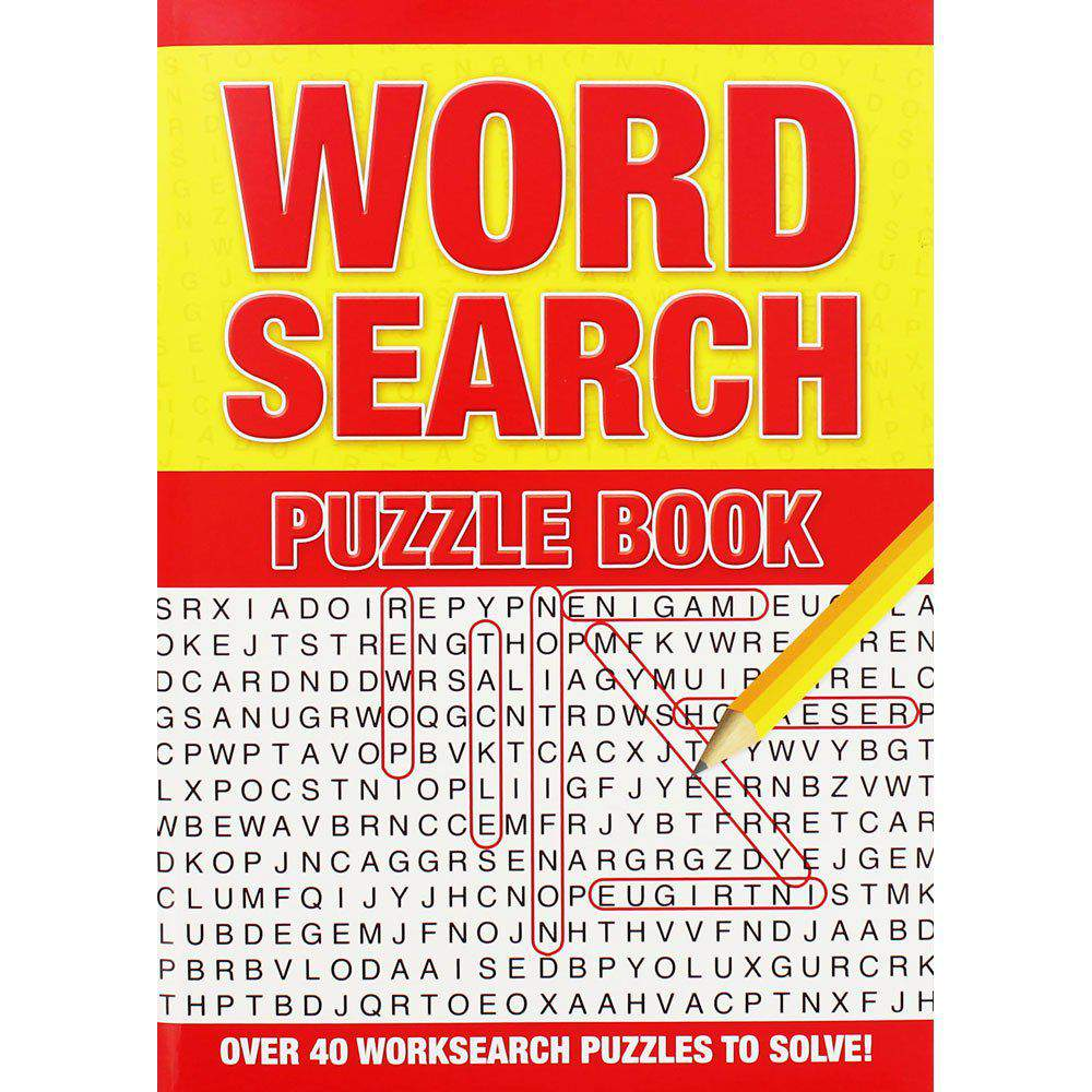 Word Search Puzzle Book Orange/Blue/Purple/Red