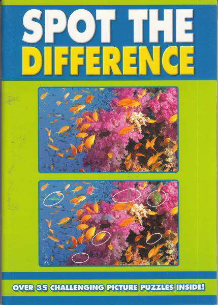 Spot The Difference Colouring Books