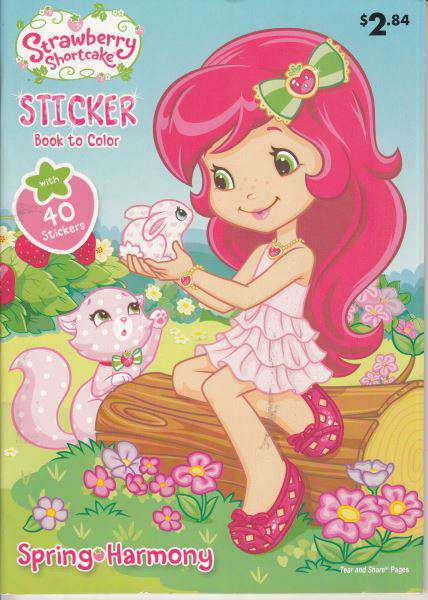 Strawberry Shortcake Sticker Book To Color
