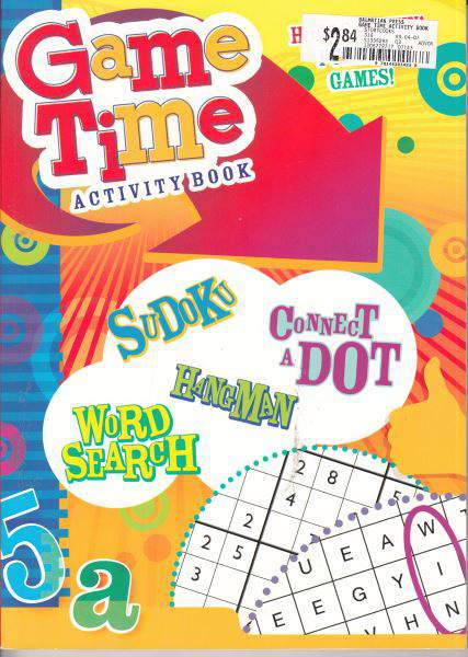 Game Time Activity book