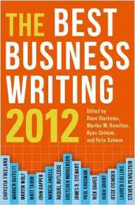The Best Business Writing 2012 Columbia Journalism Review Books