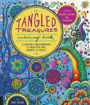Tangled Treasures Coloring Book 52 Intricate Tangle Drawings to Color