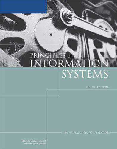 Principles Of Information Systems 8th Edition HB
