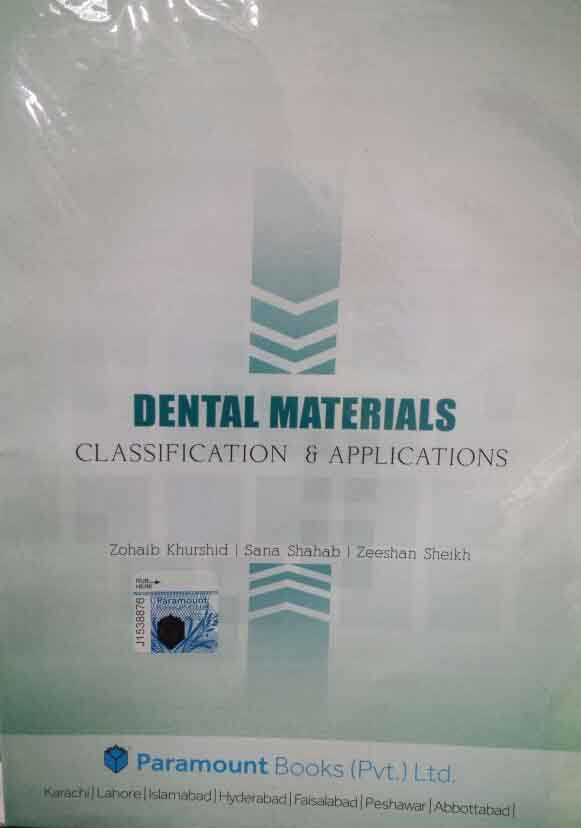 Dental Materials Classification and Applications Chart