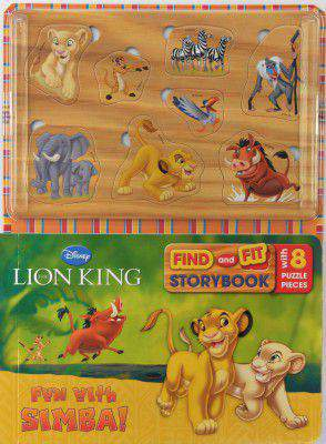 Disney Lion King Find and Fit Story Book