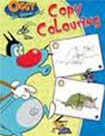 Oggy and the Cockroaches Copy Colouring