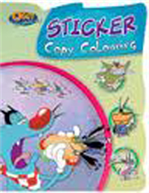 Oggy and the Cockroaches Sticker Copy Colouring