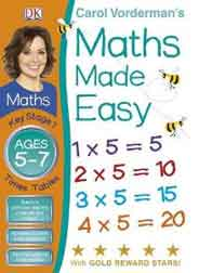 Maths Made Easy Times Tables Ages 5  to 7 Key Stage 1 Carol Vordermans Maths Made Easy