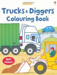 Trucks and Diggers My First Colouring Book
