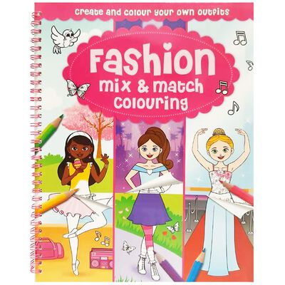 Fashion Mix & Match Colouring - Paperback