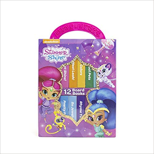 Nickelodeon Shimmer and Shine - 12 Board Book Block My First Library -