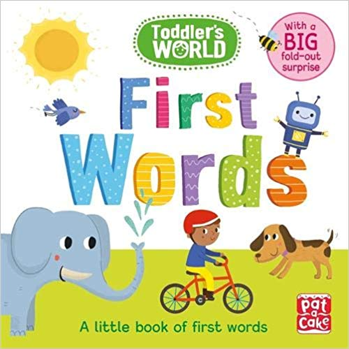 First Words: A little board book of first words with a fold-out surprise