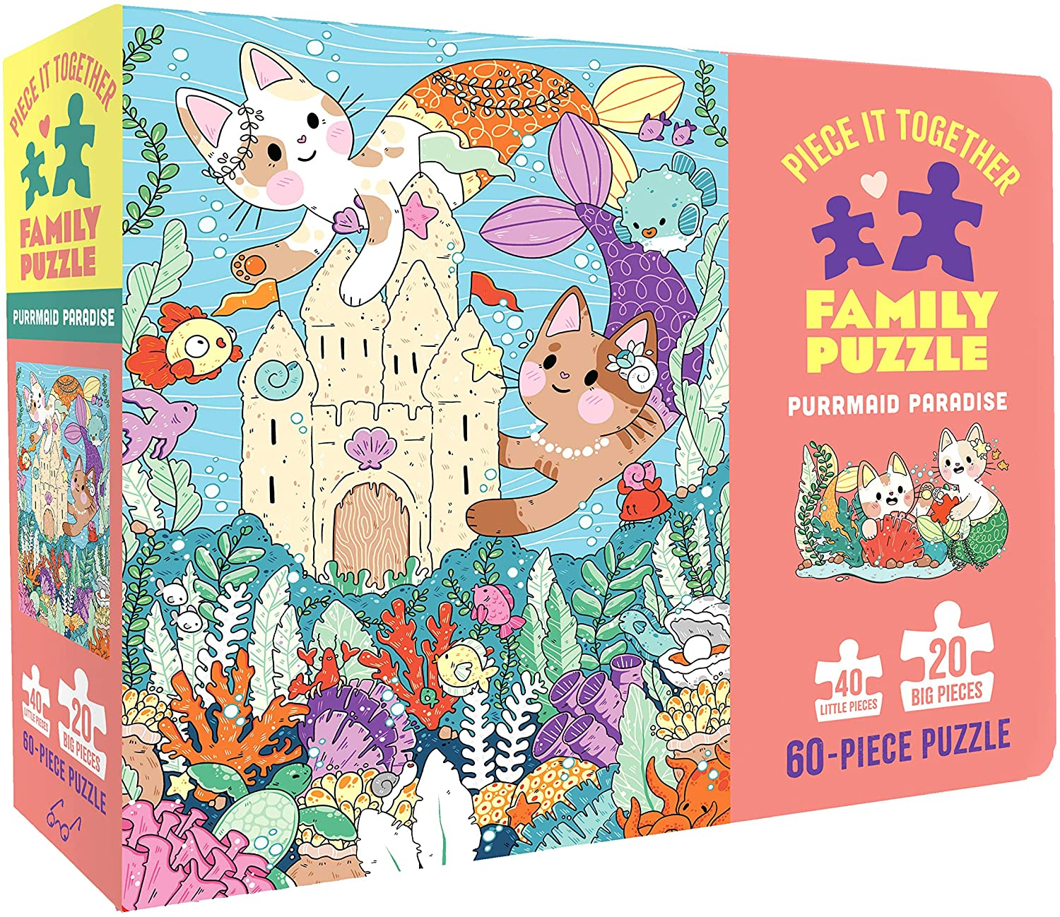 Chronicle Books Piece It Together Family Puzzle: Purrmaid Paradise