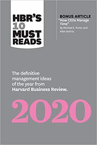 HBR's 10 Must Reads 2020 - (PB)