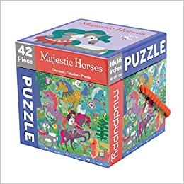 Majestic Horses 42 Piece Cube Puzzle