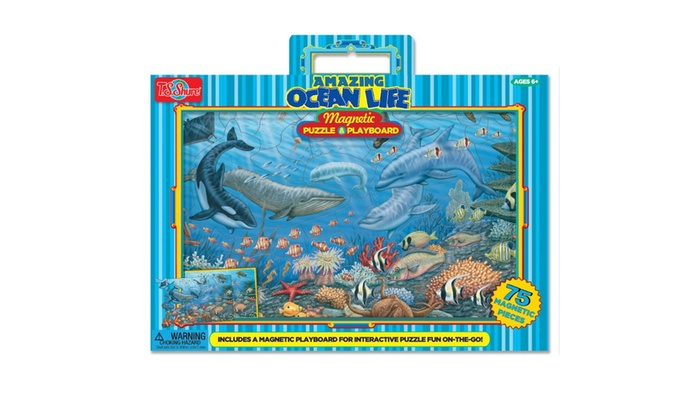 Ocean Life - Magnetic Play board & Puzzle