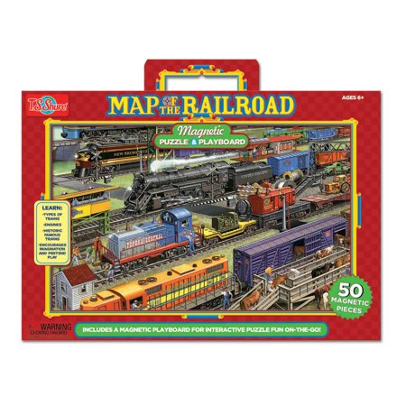 Railroad Magnetic playboard and puzzle