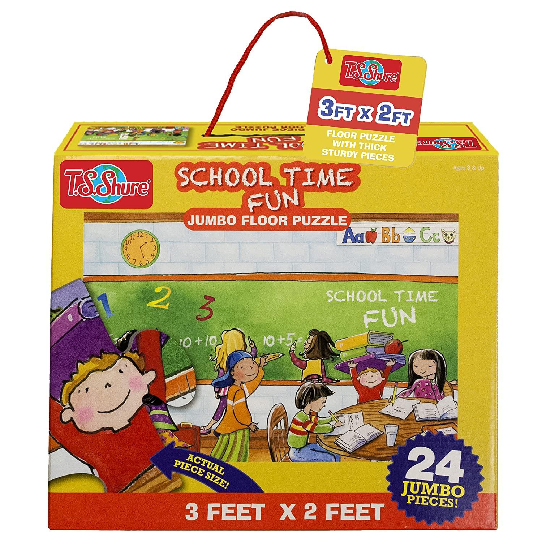 School Time Fun Jumbo Floor Puzzle