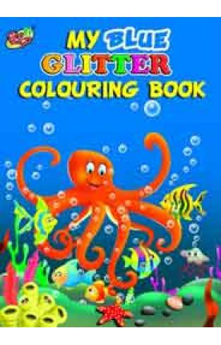 My Blue Glitter Colouring Book