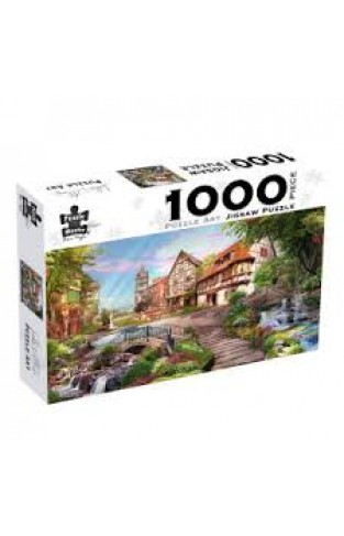 Puzzle Art 1000pc - Lake Village - (Box)