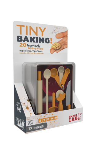 Tiny Baking!: 20 Enormously Delicious Recipes - Big Science. Tiny Tools. Includes 48-Page Recipe Book
