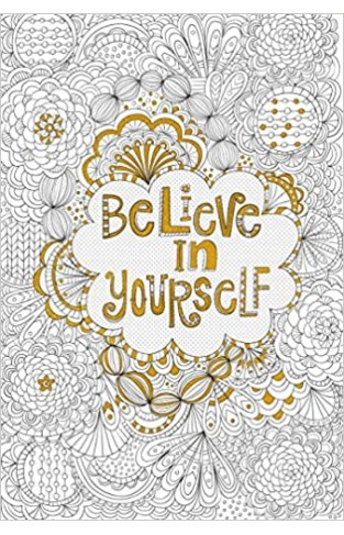Believe in Yourself Gold Foil Colouring Poster (Studio) - Paperback