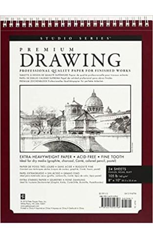 Premium Drawing Pad 8'' X 10'' (Sketchbook, Sketch book) (Studio) - Paperback