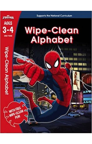Spider-Man: Wipe-Clean Alphabet, Marvel Learning - Paperback