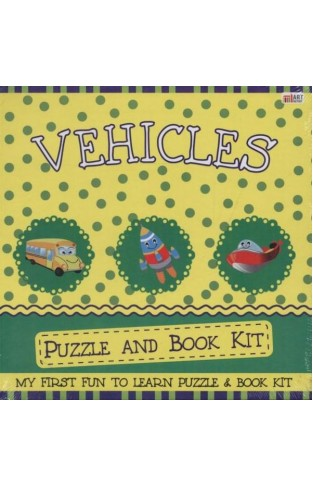Vehicles Puzzle and Book Kit