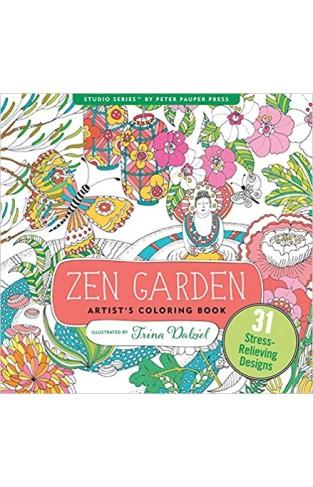 Zen Garden Adult Coloring Book - Paperback