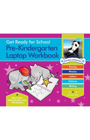 Get Ready for School Pre-Kindergarten Laptop Workbook - Uppercase Letters, Tracing, Beginning Sounds, Writing, Patterns