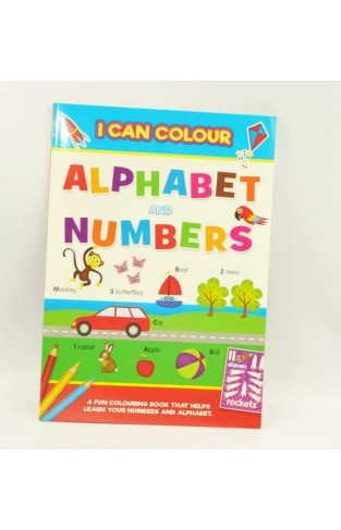 Alligator Books I Can Colour Alphabet and Numbers