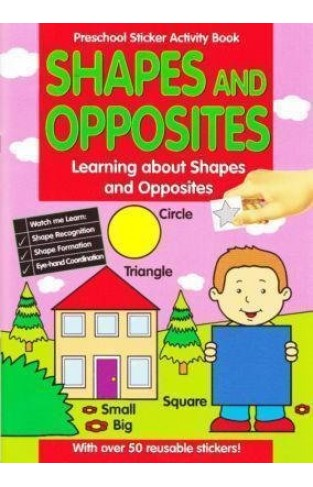 Alligator Books Ltd Preschool Sticker Activity Book Shapes & Opposites