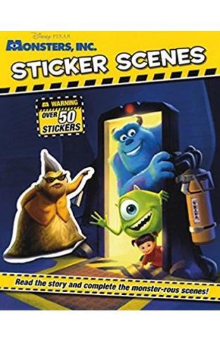 Disney Monsters Inc Sticker Scene