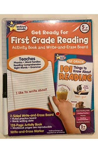Get Ready For First Grade Reading: Activity Book And Wipe Off Board