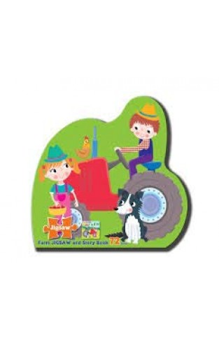 Farm Jigsaw and Story Book 72 Pieces