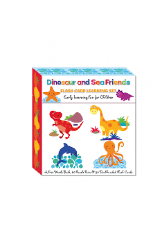 Dinosaur and Sea Friends Flash Card Learning Set - (Cards)
