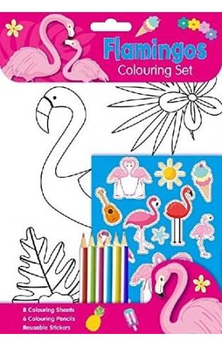 Flamingos Colouring Set