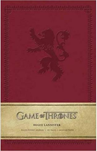 Game of Thrones House Lannister Ruled Pocket Journal