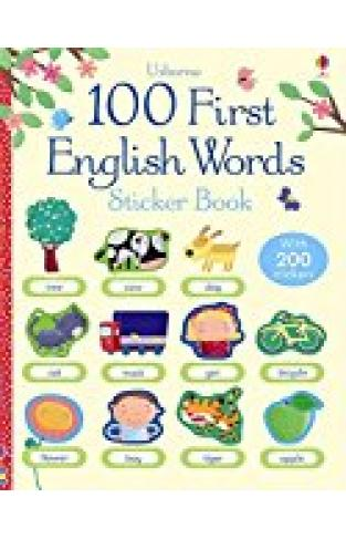 100 First English Words Sticker Book (100 First Words Sticker Books)