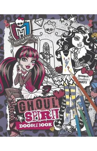 Monster High Ghoul Spirit Doodle Book