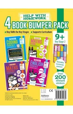 9+ Pack - Coding Essentials, English Essentials, Maths Essentials & Maths Revision