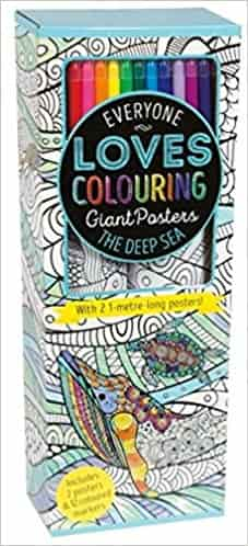 Colouring Poster Box: The Deep Sea