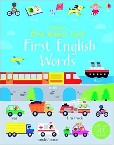 First Sticker Book First English Words (First Sticker Books)