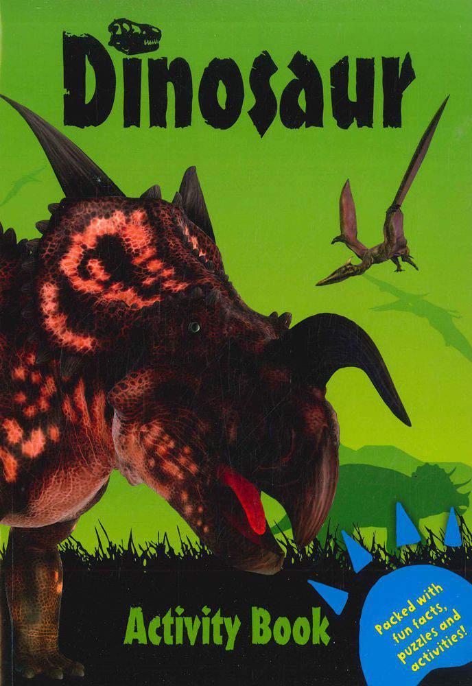 Dinosaur Activity Book : Green
