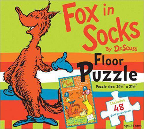 Fox in Socks by Dr. Seuss Floor Puzzle